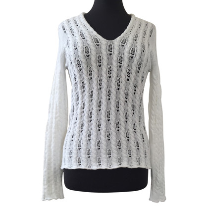 Iris von Arnim Sweater with lace pattern