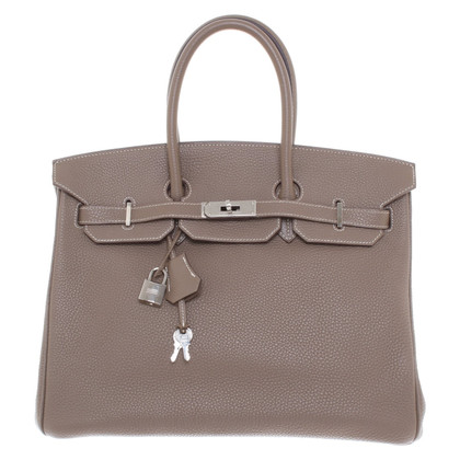 "Hermès ""Birkin Bag 35 Togo Leather Etoupe"""