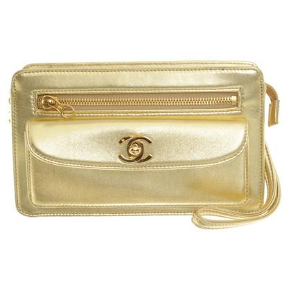 Chanel clutch dorato