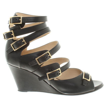 Chloé Wedges leer