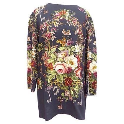 Dolce & Gabbana Longblouse with Flower-Print
