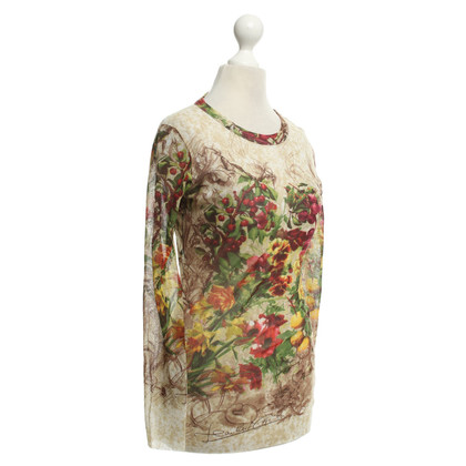 Jean Paul Gaultier top with a floral print