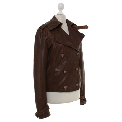 D&G Leather jacket in brown