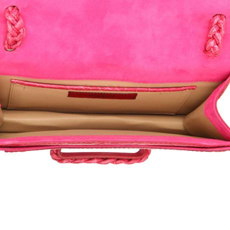 Besonders Valentino Henkeltasche aus Krokodilleder Rosa / Pink Zuverlässige Online Mit Mastercard Zum Verkauf Amazon Verkauf Online iRgzH