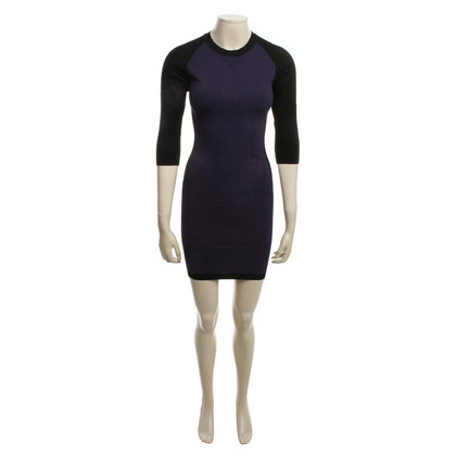 Karen Millen Gebreide jurk zwart / Paars