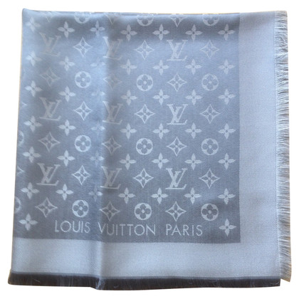 Louis Vuitton Monogram-Shine-Tuch in Schwarz/Silber