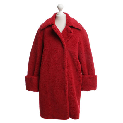 MM6 by Maison Margiela Pluche jas in rood