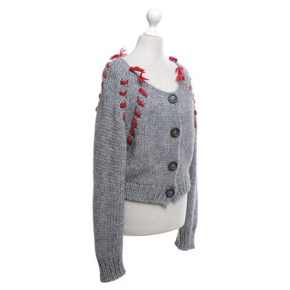 Vivienne Westwood Sweater in grey / red