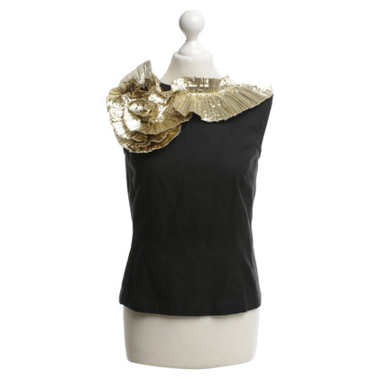 Dries van Noten top with gold-colored details