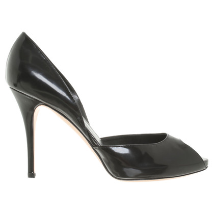 Gianvito Rossi Peeptoes aus Lackleder