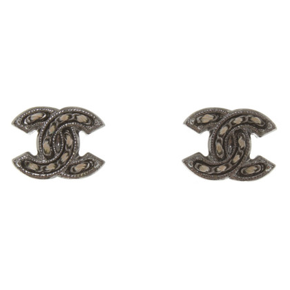 Chanel Studs in logo look