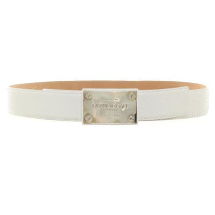 Versace Reptile leather belt