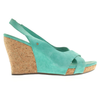 UGG Australia Wedges with cork heel in green