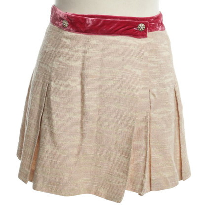 Dolce & Gabbana Short skirt in Beige / Fuchsia