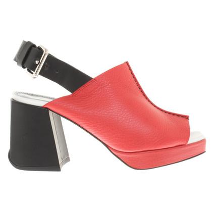 Pollini Leather sandals in Bicolor