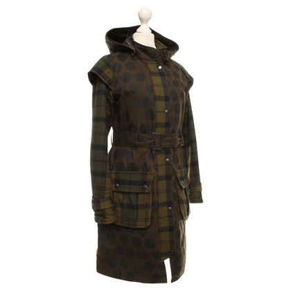 Barbour Coat with check pattern