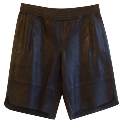 Set shorts in pelle