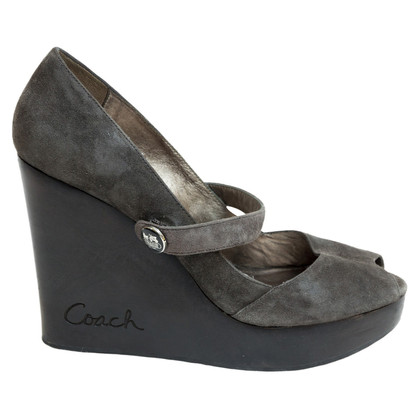 Coach Peep Toe Wedges