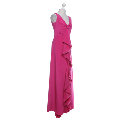 Carolina Herrera Silk dress in fuchsia