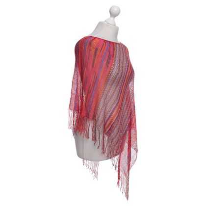Missoni Gebreide poncho in Multicolor