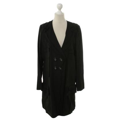 Sonia Rykiel Linen coat in black
