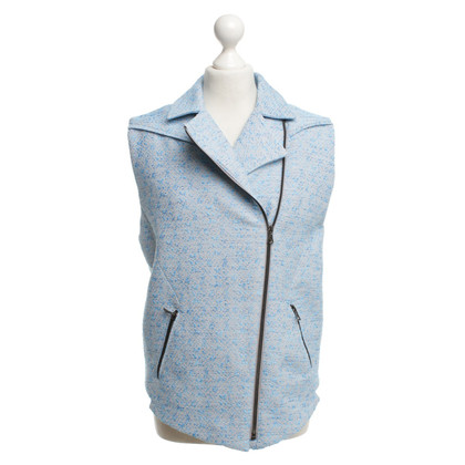 Lala Berlin Light blue biker vest