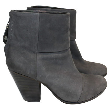 Rag & Bone Gray zippered boots