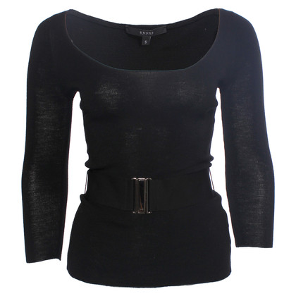 Gucci black top with long sleeves