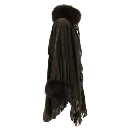 Christian Dior Cappotto con finiture in pelliccia di volpe