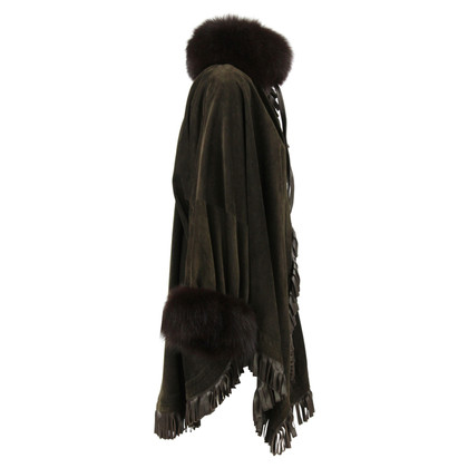 Christian Dior Coat with fox fur trim