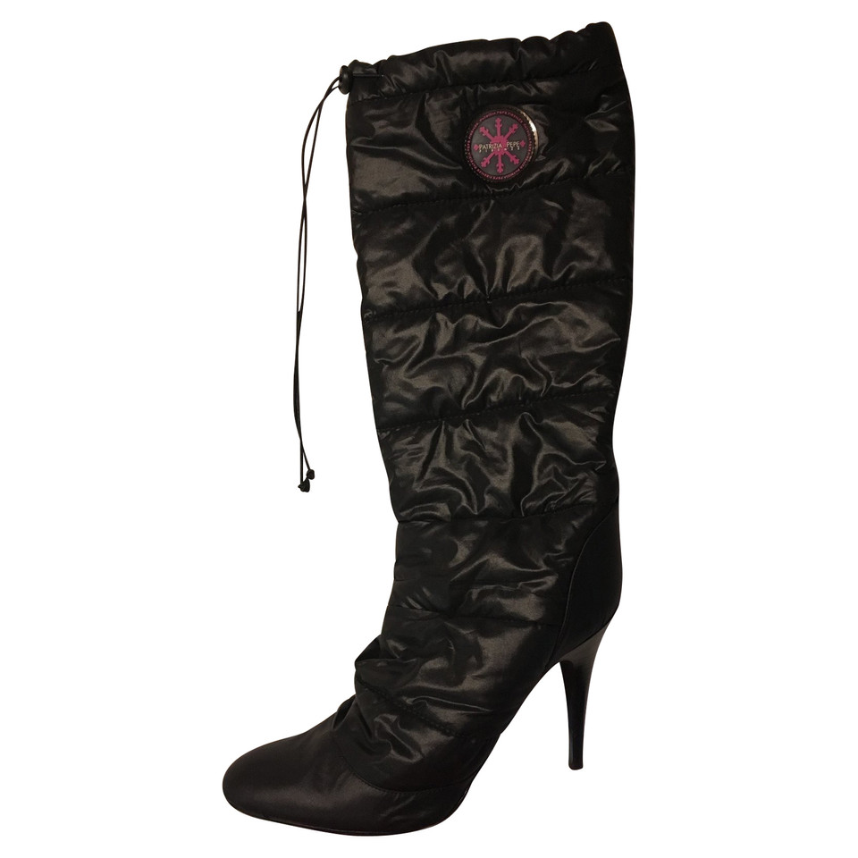 chanel quilted boots. patrizia pepe quilted high heel boots chanel
