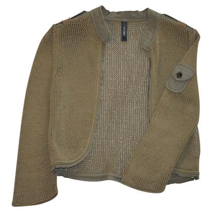 Marc Cain Chunky knit jacket Military