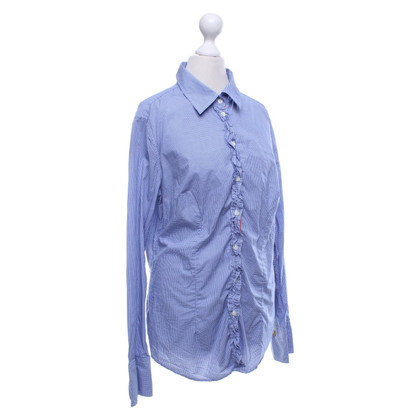 0039 Italy Blouse in blue / white