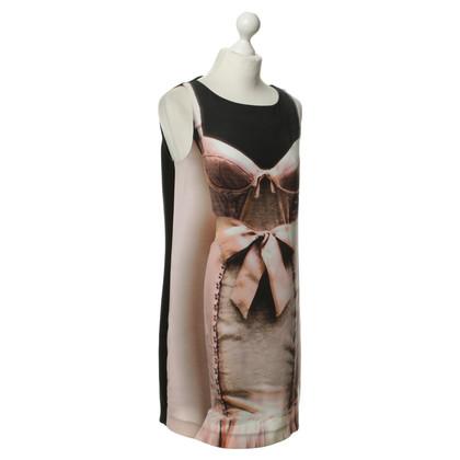 Moschino Kleid mit Korsagen-Print