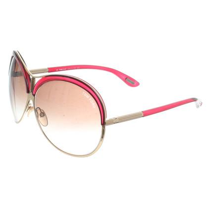 """Tom Ford """"Sofiane"""" zonnebrillen in het rood"""