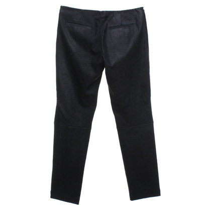 The Row Suede pants in black