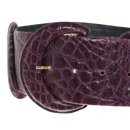 Christian Dior Belt with reptile embossing