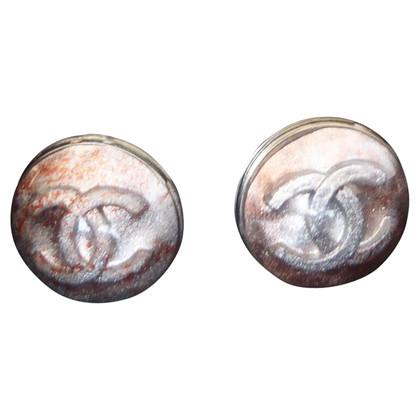 Chanel clip orecchio con logo