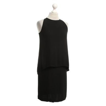 Theory Zwart zijden jurk