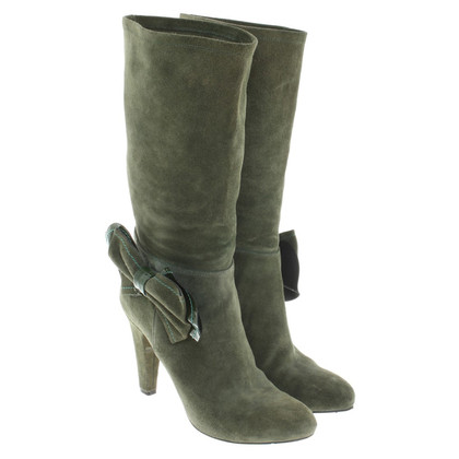 Red Valentino Boots in olive green