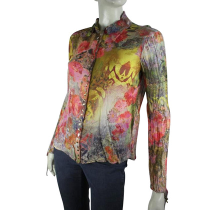 Luisa Cerano Silk blouse in multicolor