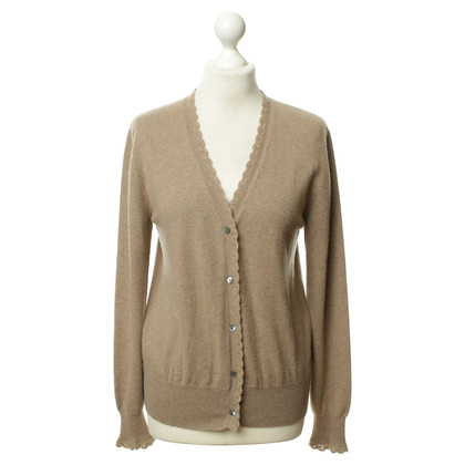 Allude Cashmere Cardigan in Brown