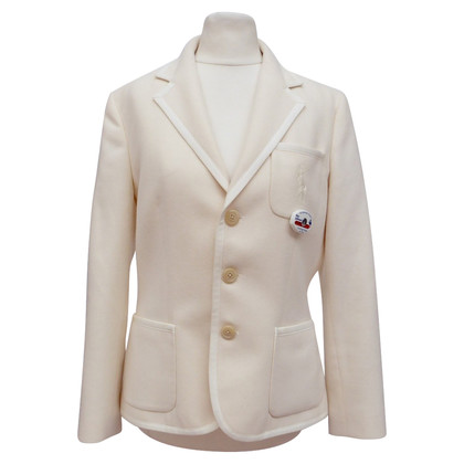 Ralph Lauren Wool blazer with embroidered emblem
