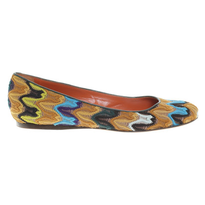 Missoni Ballerina's in multi gekleurd
