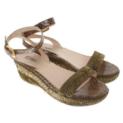 Prada Sandals with python leather