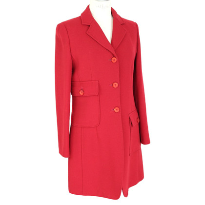Moschino Moschino 1990s vintage red wool coat