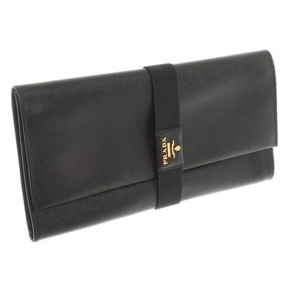 Prada clutch in zwart