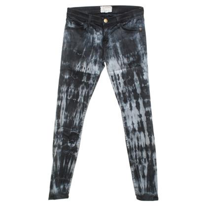 Current Elliott Skinny jeans met batikpatronen