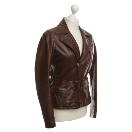 Ralph Lauren Leren jas Brown