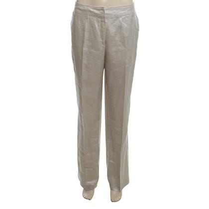 Escada pantaloni di lino in argento